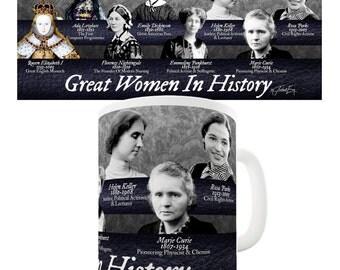 Great Women In History Ceramic Funny Mug