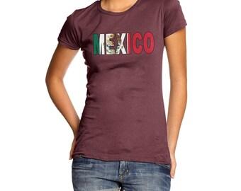 Women's Mexico Flag Football T-Shirt