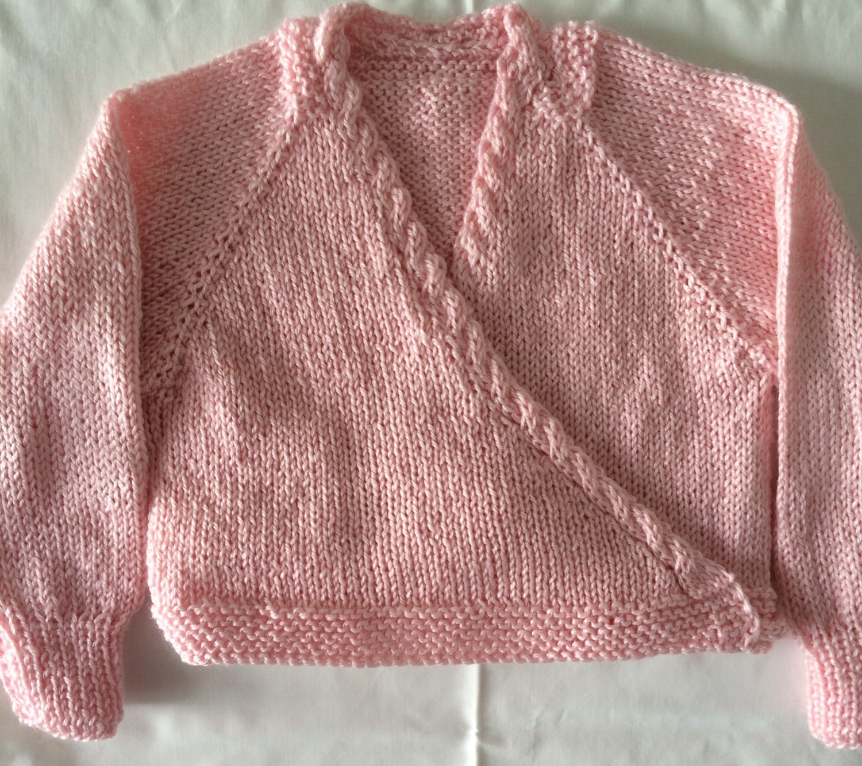 Knitting Pattern Childs Ballet Cardigan : Ballet Cardigan Crossover Top Down