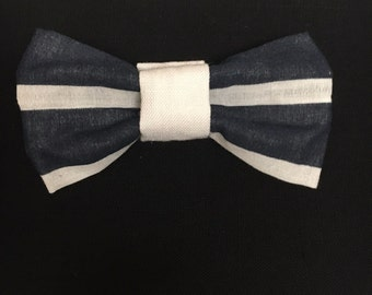 Navy Blue Clip On Bow Tie