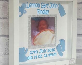 Personalised Baby Frame, Box Frame,Christening Gift,Baby Shower Gift,Photo Frame,Memory Frame,New Baby Gift, Birthday Gift Christmas Gift