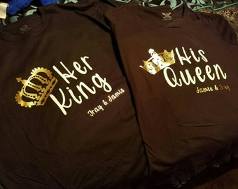 King or Queen tshirts