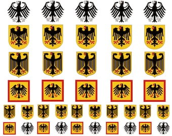 40 Tattoos: Germany Coat of Arms Flag, German Party Favors