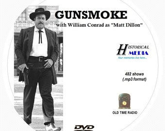 GUNSMOKE - 482 Shows of Old Time Radio In MP3 Format OTR On 1 DVD