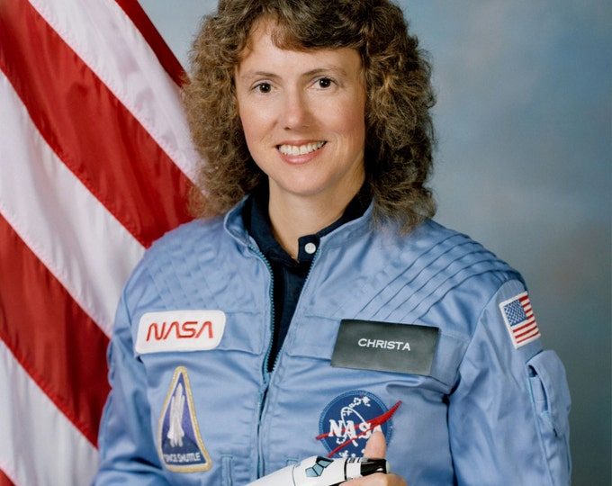 "Christa McAuliffe Space Shuttle Challenger STS-51-L Payload Specialist ""Teacher in Space"" - 5X7, 8X10 or 11X14 NASA Photo (ZZ-252)"