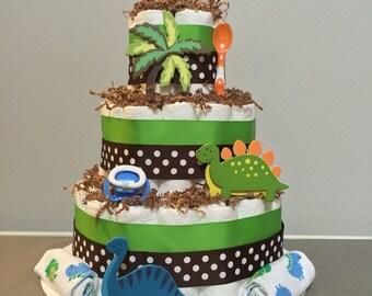 Dino Baby Diaper Cake