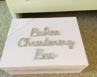 Christening keepsake box