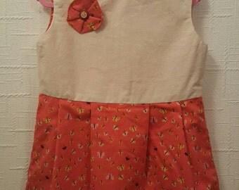 Dress Handmade Girls Size 3 100% Cotton **SALE**