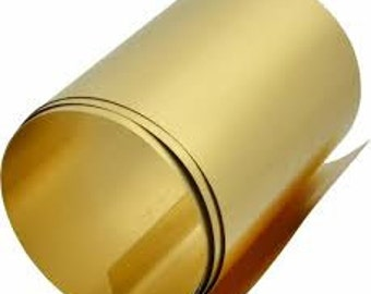 """Brass Shim.    0.005"""" thick.   (0.127 mm thick)"""