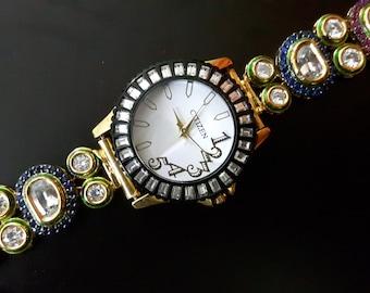Aadhya Jewels Beautiful AD Stones Wrist Watch