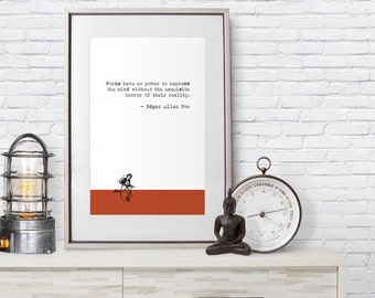 Edgar Allan Poe Quote - Poster Print - Reality