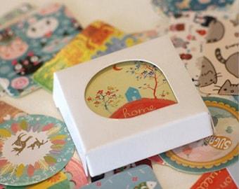 38 PCs Stickers stickers animals kawaii