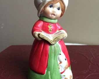 Vintage Jasco merribell figurine - Caroler with dog