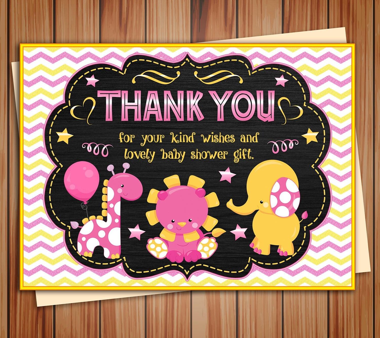Safari, Jungle Baby Shower Invitation, Pink Safari animals ...