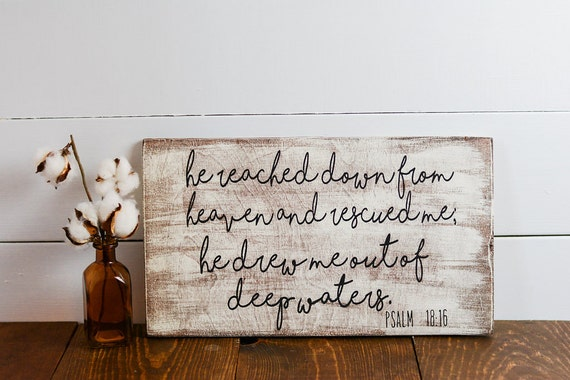 Home Decor Inspirational quote Bible Verse Distressed