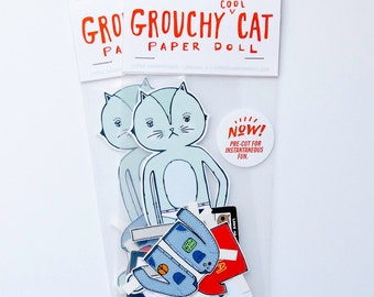 Grouchy Cat Paper Doll