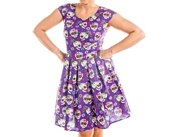 Skull Print Dress - 15-006