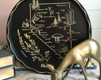 Nevada State Black Souvenir Tray