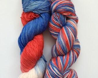 British Bonanza Hand Dyed Sock Yarn 100g DYED TO ORDER