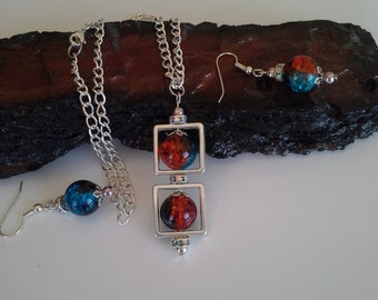 Pendant and matching earrings set