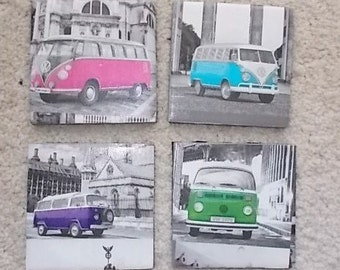 VW camper van coaster set
