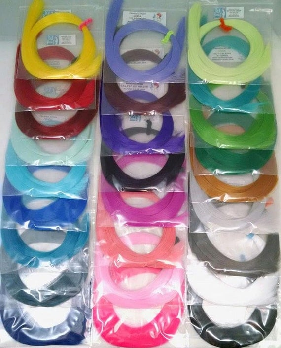 26 Bright Color Variety Pack Nylon Doll Hair for Rerooting Barbie, Monster High, Ever After, Rehair MLP INTL SHIP