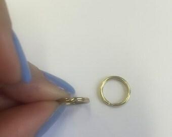 12mm 1mm gauge Split Key Ring