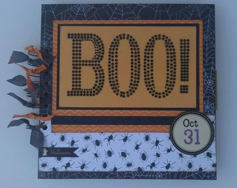 Handmade Halloween Scrapbook Album 8x8