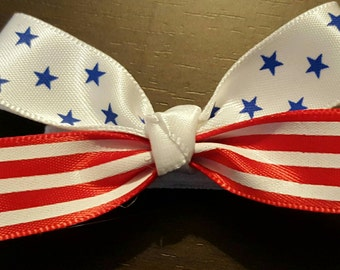 Girls, Patriotic, Toddler, 4th of July, Stars & Stripes, Holiday Hairbow