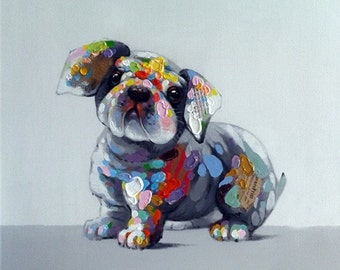 Oil Painting On Canvas by PALETTE KNIFE - BabyDog