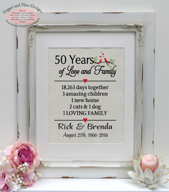 Traditional Gift For 4th Wedding Anniversary: 50th Anniversary 50 Years Of Marriage 50 By
