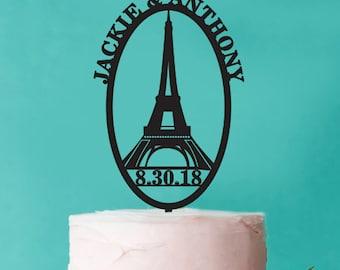 Personalized Paris Cake Topper (FJM-PARISKT561-LXJM)