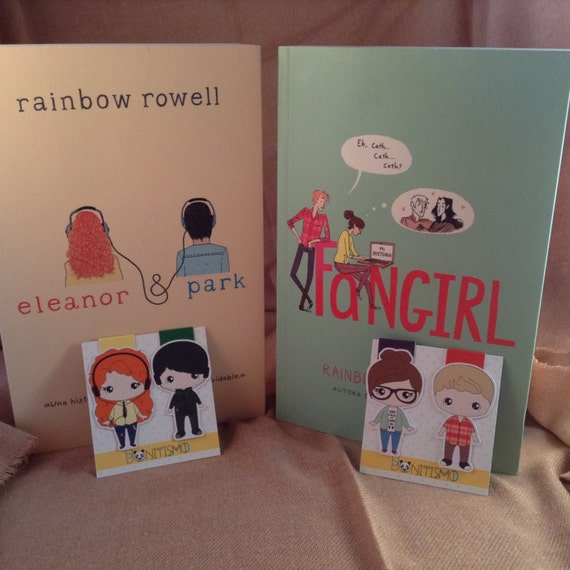 Magnetic bookmarks - Fangirl, Eleanor & Park, Rainbow Rowell characters (2 bookmarks)