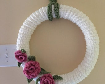 Crochetted Flower Wreath