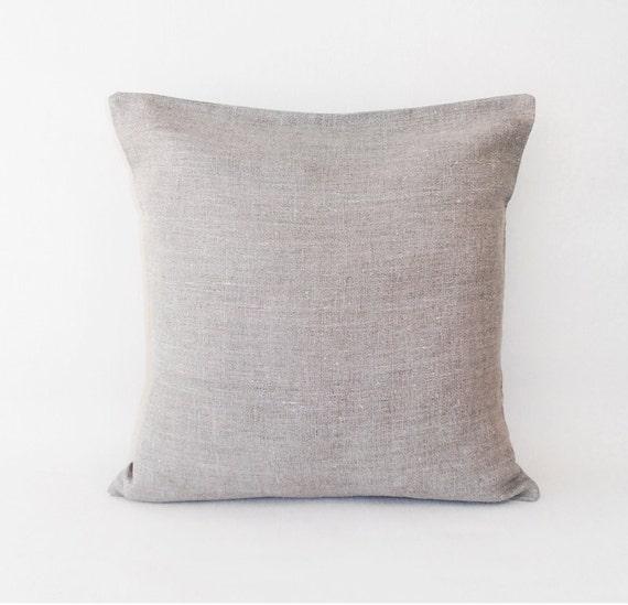 Organic Decorative Pillow Covers : Natural linen pillow covers / Decorative pillow cover / Linen