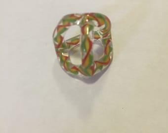 Tri-Color Tetrahedron Pendant