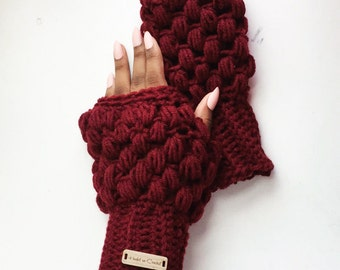 Crochet Fingerless Gloves/ Hand warmers