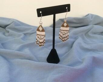 Handmade Beaded Dangle Earrings