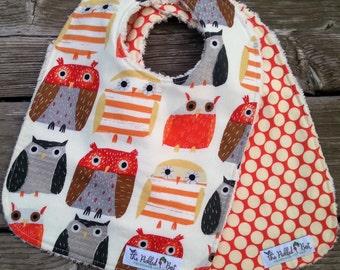 Baby Bibs Handmade - Baby Bibs - Bibs - Owl Bibs - Set of 2 - Baby Girl Bibs - Baby Boy Bibs - Woodland Bibs - Dear Stella - Gender Neutral