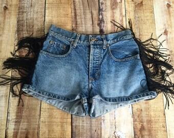 Size 3 Fringe High Waisted Shorts