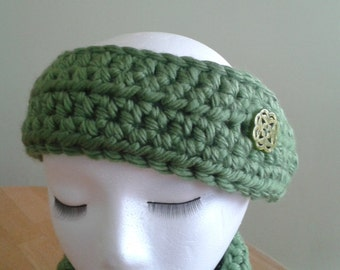 Ear Warmer / Headband - dark sage