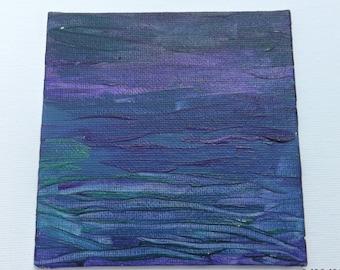 Textured Purple Green & Blue