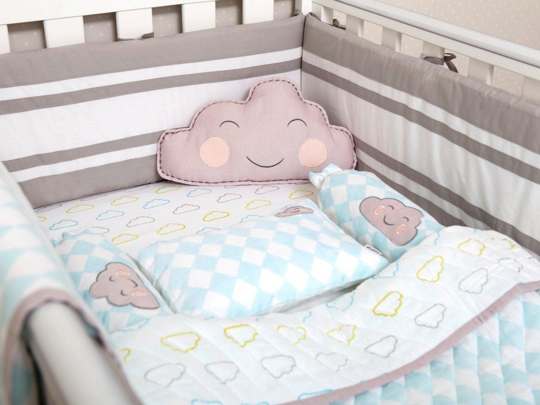happy cloud organic crib bedding set baby bedding set baby. Black Bedroom Furniture Sets. Home Design Ideas