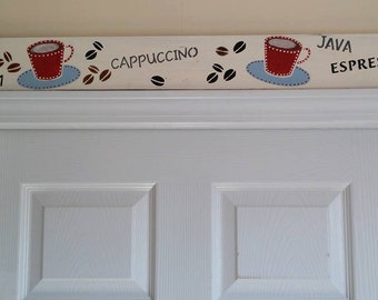Coffee-Cappuccino-Mocha Home Decor Sign