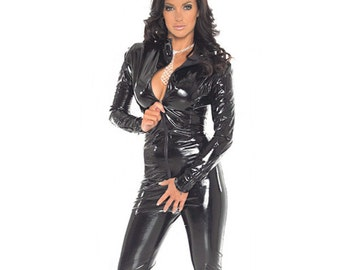 PVC Catsuit With Zipper,Clothes,PVC