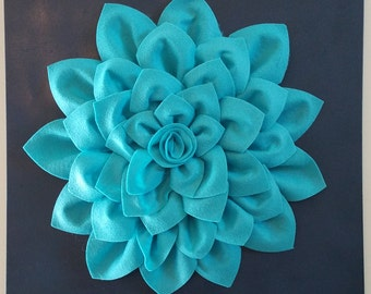3D Felt Flower On Canvas