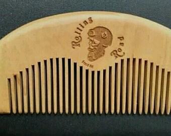 Rolling Road Beard Wooden Hair Comb