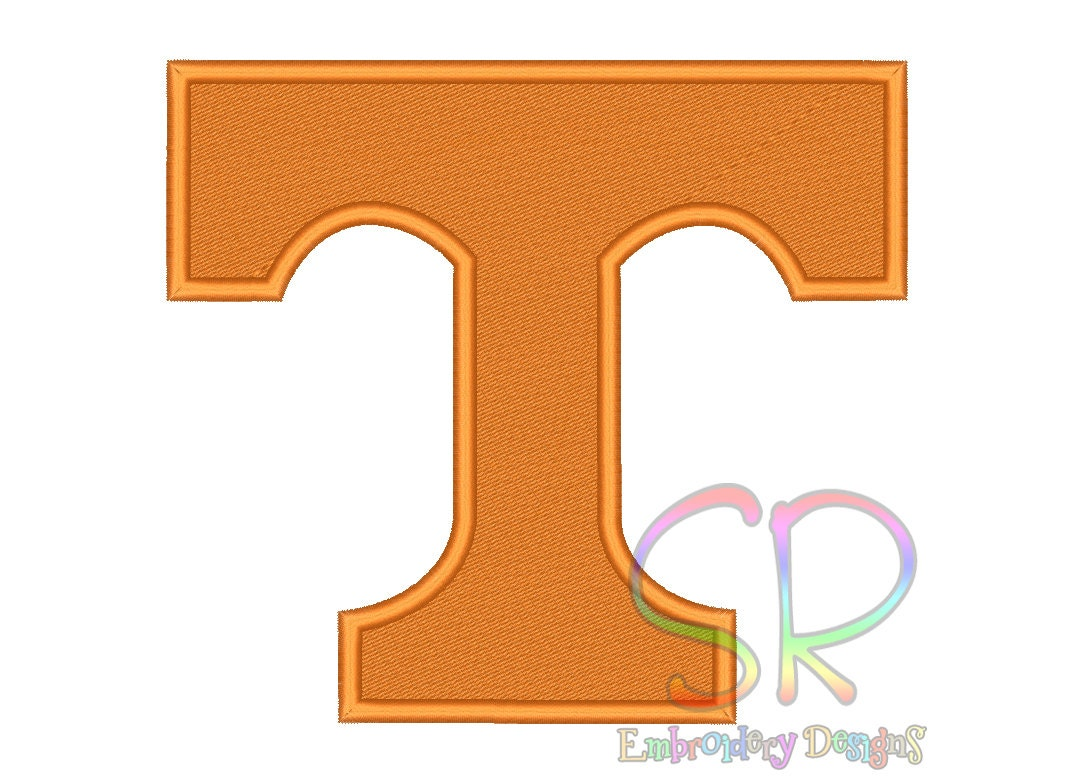 Volunteers Embroidery Designs College Football Logo Embroidery Design ...