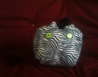 Adorable cubed black and white zebra