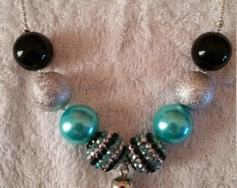 Bubblegum bead ball chain necklace